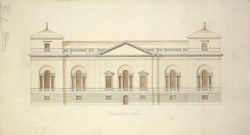 Elevation of Holkham, Norfolk, the seat of the Earl of Leicester 42-f